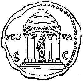 Temple of Vesta. (From a Coin.)