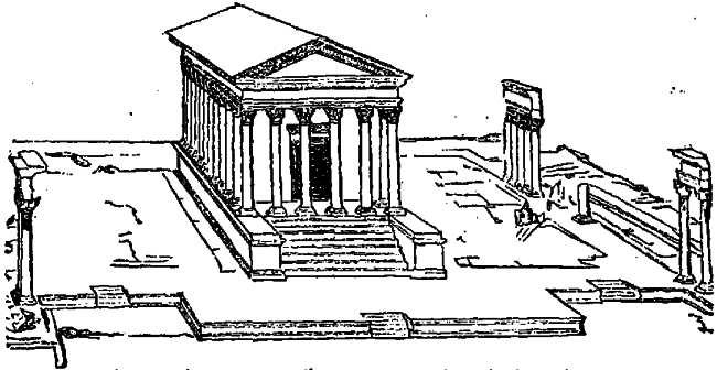 Temple of Nemausus (Nimes), now called the Maison Carree