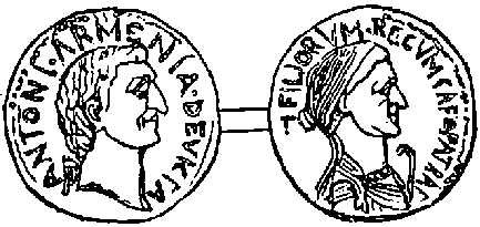 Coin of Antony and Cleopatra
