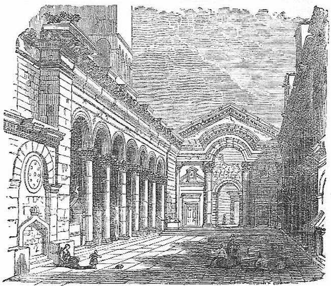 The Court-yard of Diocletian's Palace at Spalatro